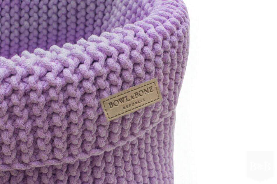 kosz na zabawki dla psa cotton fioletowy bowlandbonerepublic ps1sa