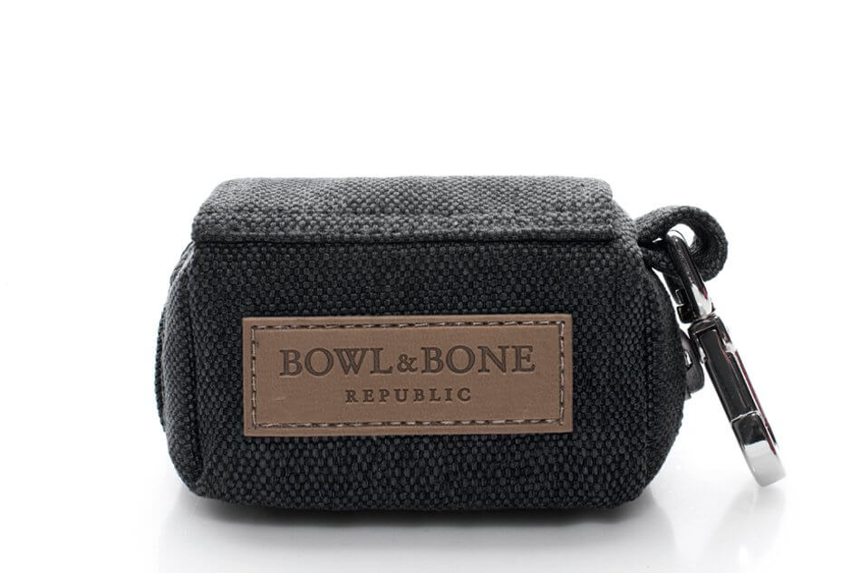 saszetka etui na woreczki dla psa mini bag black czarny bowl and bone republic ps1sa