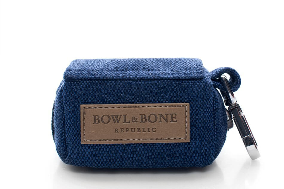 saszetka etui na woreczki dla psa mini bag navy niebieski bowl and bone republic ps1sa