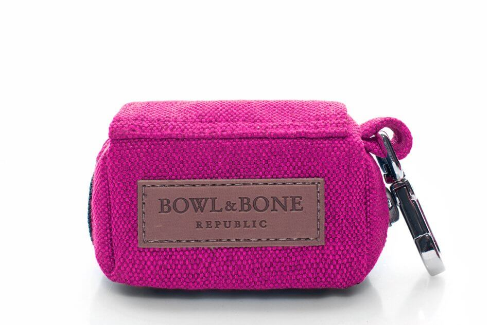 saszetka etui na woreczki dla psa mini bag pink rozowy bowl and bone republic ps1sa