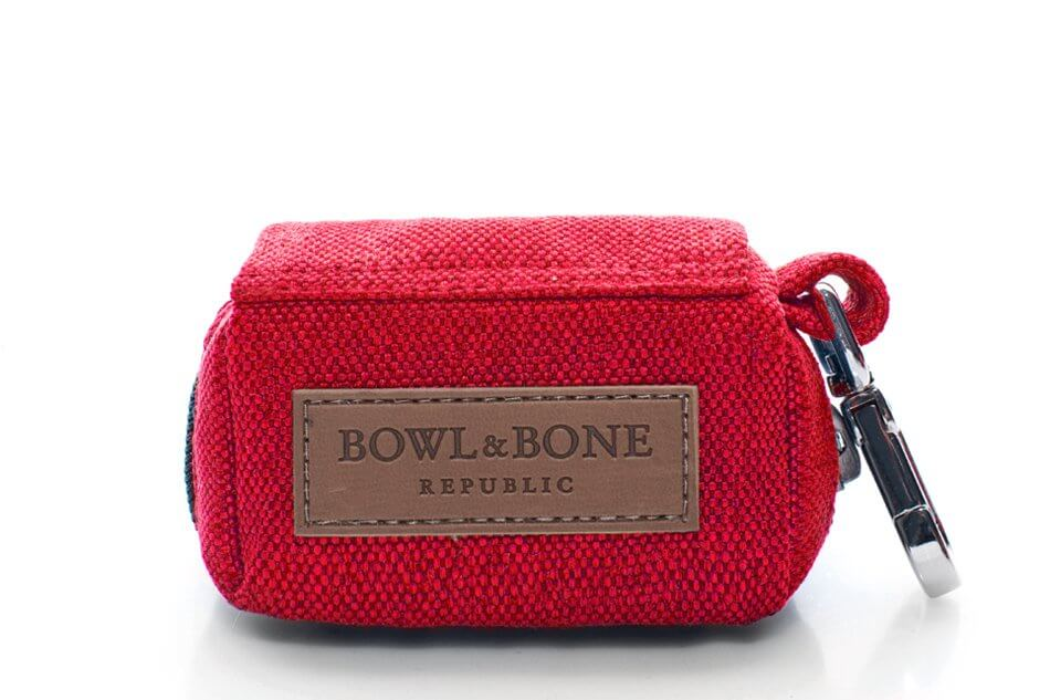 saszetka etui na woreczki dla psa mini bag red czerwony bowl and bone republic ps1sa